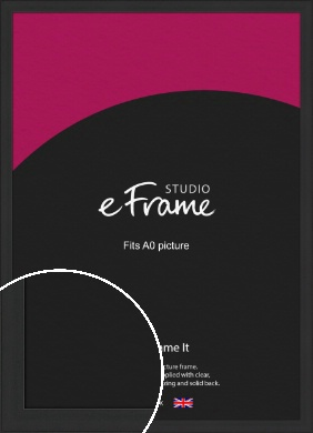 Stylish Wide Black Picture Frame, A0 (841x1189mm) (VRMP-1311-A0)