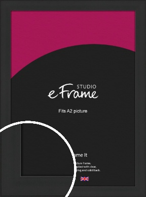 Stylish Wide Black Picture Frame, A2 (420x594mm) (VRMP-1311-A2)
