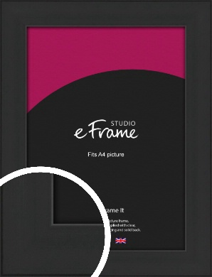 Stylish Wide Black Picture Frame, A4 (210x297mm) (VRMP-1311-A4)
