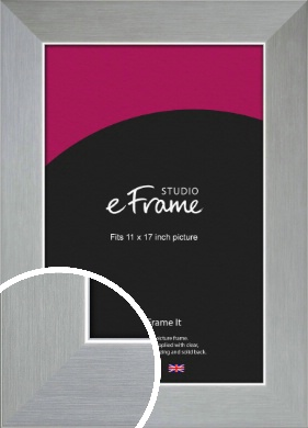 Sterling Effect Silver Picture Frame, 11x17