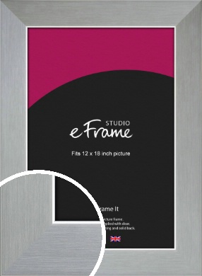 Sterling Effect Silver Picture Frame, 12x18