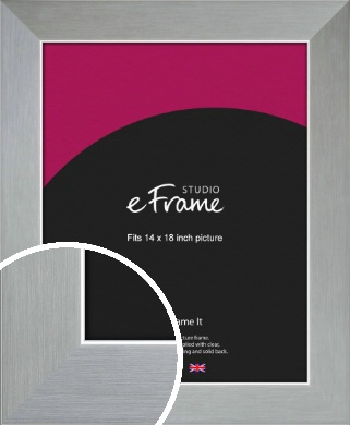 Sterling Effect Silver Picture Frame, 14x18