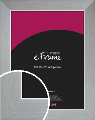 Sterling Effect Silver Picture Frame, 15x20