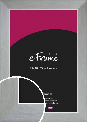 Sterling Effect Silver Picture Frame, 16x24