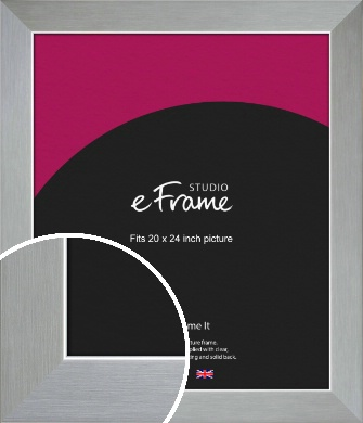 Sterling Effect Silver Picture Frame, 20x24