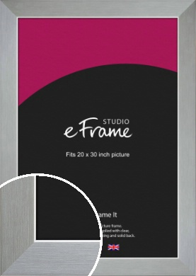 Sterling Effect Silver Picture Frame, 20x30