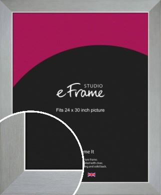 Sterling Effect Silver Picture Frame, 24x30