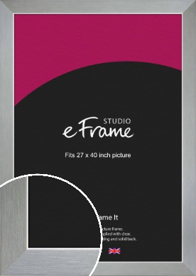 Sterling Effect Silver Picture Frame, 27x40