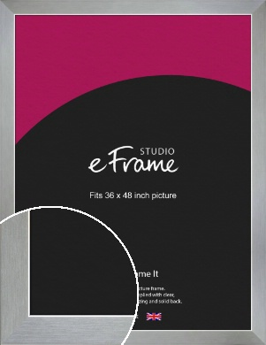 Sterling Effect Silver Picture Frame, 36x48