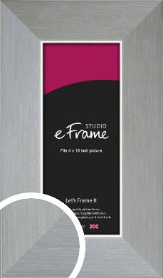 Sterling Effect Silver Picture Frame, 4x10