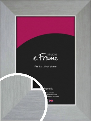 Sterling Effect Silver Picture Frame, 8x12