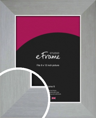 Sterling Effect Silver Picture Frame, 9x12