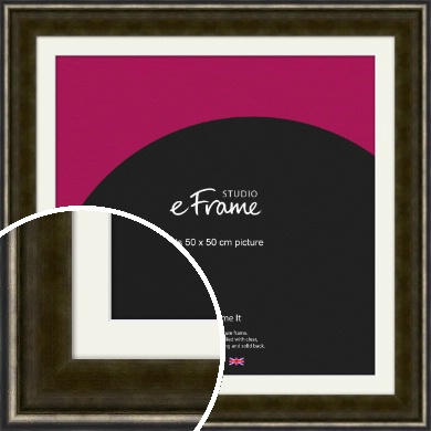 Warm Industrial Style Bronze / Copper Picture Frame & Mount, 50x50cm (VRMP-249-M-50x50cm)