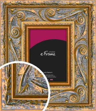 Sweeping Ornamental Gold Picture Frame (VRMP-654)