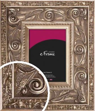 Applique Decorative Silver Picture Frame (VRMP-564)