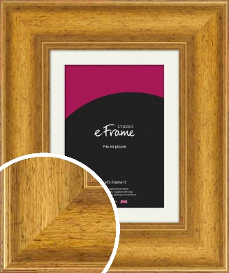 Striking & Opulent Gold Picture Frame & Mount, A4 (210x297mm) (VRMP-135-M-A4)