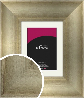 Plush Ogee Silver Picture Frame & Mount (VRMP-450-M)