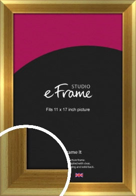 Rounded Art Deco Gold Picture Frame, 11x17