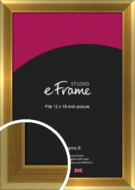 Rounded Art Deco Gold Picture Frame, 12x18