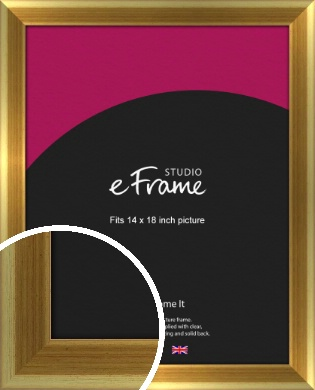 Rounded Art Deco Gold Picture Frame, 14x18