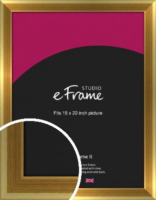 Rounded Art Deco Gold Picture Frame, 15x20