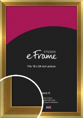 Rounded Art Deco Gold Picture Frame, 16x24