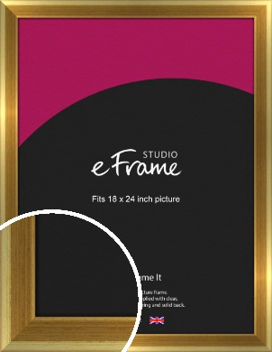 Rounded Art Deco Gold Picture Frame, 18x24