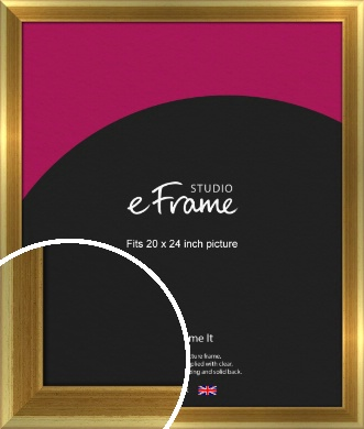 Rounded Art Deco Gold Picture Frame, 20x24