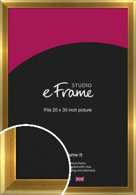Rounded Art Deco Gold Picture Frame, 20x30