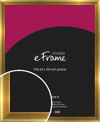 Rounded Art Deco Gold Picture Frame, 24x30