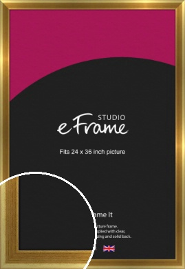 Rounded Art Deco Gold Picture Frame, 24x36