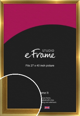 Rounded Art Deco Gold Picture Frame, 27x40