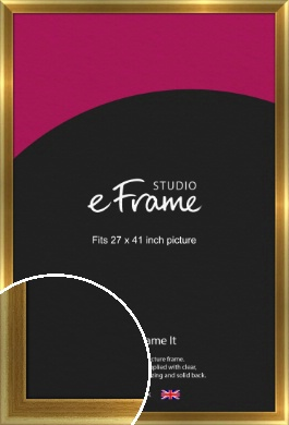 Rounded Art Deco Gold Picture Frame, 27x41