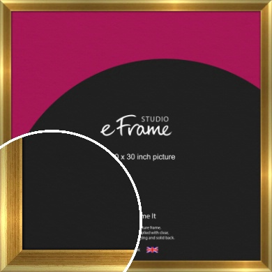 Rounded Art Deco Gold Picture Frame, 30x30