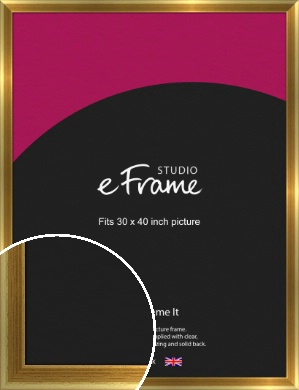 Rounded Art Deco Gold Picture Frame, 30x40