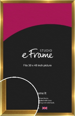 Rounded Art Deco Gold Picture Frame, 30x48