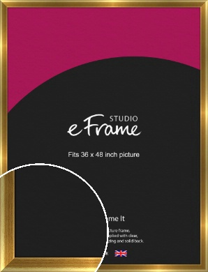 Rounded Art Deco Gold Picture Frame, 36x48