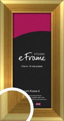 Rounded Art Deco Gold Picture Frame, 4x10