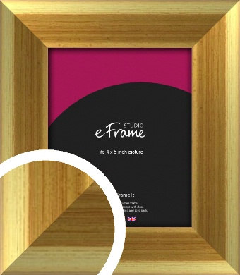 Rounded Art Deco Gold Picture Frame, 4x5