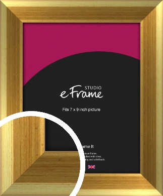 Rounded Art Deco Gold Picture Frame, 7x9