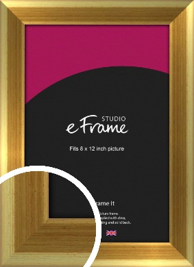Rounded Art Deco Gold Picture Frame, 8x12