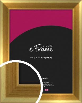Rounded Art Deco Gold Picture Frame, 9x12