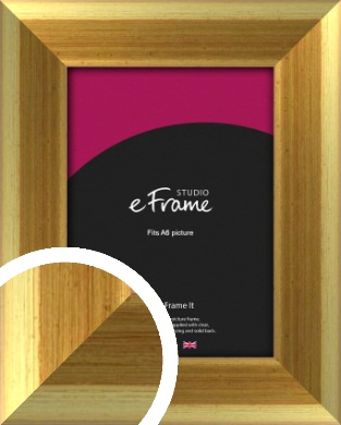 Rounded Art Deco Gold Picture Frame, A6 (105x148mm) (VRMP-217-A6)