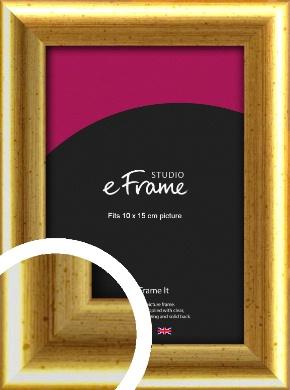 Radius Edge Old Gold Picture Frame, 10x15cm (4x6