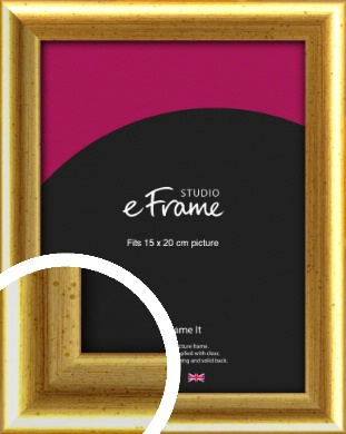 Radius Edge Old Gold Picture Frame, 15x20cm (6x8