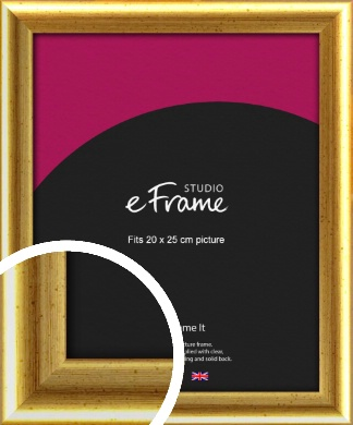Radius Edge Old Gold Picture Frame, 20x25cm (8x10