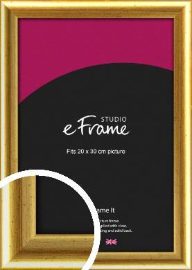 Radius Edge Old Gold Picture Frame, 20x30cm (8x12