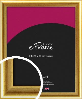 Radius Edge Old Gold Picture Frame, 24x30cm (VRMP-204-24x30cm)