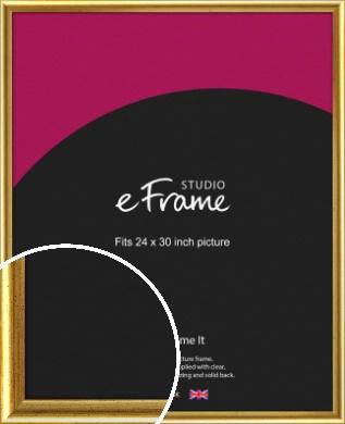 Radius Edge Old Gold Picture Frame, 24x30