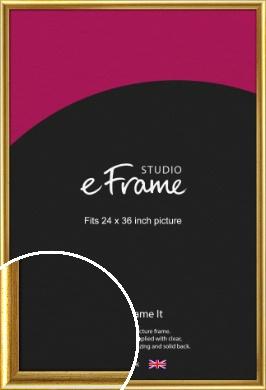 Radius Edge Old Gold Picture Frame, 24x36